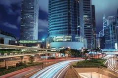 stads- sikt för natt royaltyfria bilder