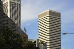 Stads- skyskrapa för affär för kontorsbyggnad för modern design för landskapSingapore Asien finansiell område Royaltyfri Foto