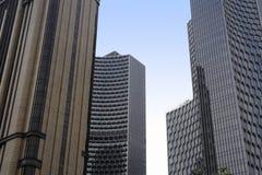Stads- skyskrapa för affär för kontorsbyggnad för modern design för landskapSingapore Asien finansiell område Royaltyfri Bild