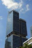 Stads- skyskrapa för affär för kontorsbyggnad för modern design för landskapSingapore Asien finansiell område Arkivfoto