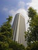 Stads- skyskrapa för affär för kontorsbyggnad för modern design för landskapSingapore Asien finansiell område Fotografering för Bildbyråer
