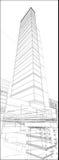 Stads- skyskrapavektor 171 Arkivbild