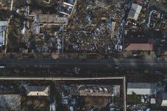 Stads- smutsigt övergett ställe royaltyfri bild