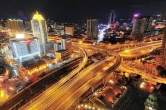 Stads- snabb väg Arkivfoto
