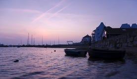 Stads- solnedgång Arkivfoto