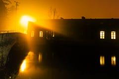 stads- solnedgång Arkivbild
