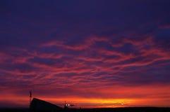 stads- soluppgång Arkivfoton