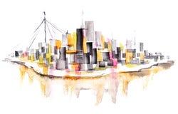 stads- stad Arkivfoton