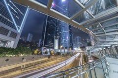 Stads- stad på natten Arkivbilder