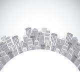 stads- stadsdesign vektor illustrationer