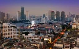 Stads- stadshorisont, Bangkok Thailand Royaltyfri Fotografi