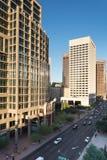Stads- streetscapes och byggnader i i stadens centrum Phoenix, AZ Royaltyfri Bild
