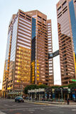 Stads- streetscapes och byggnader i i stadens centrum Phoenix, AZ Arkivfoton