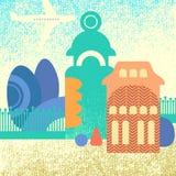 stads- tema Arkivfoton