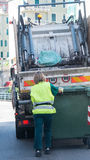 Stads- återvinningavfalls- och avskrädeservice Royaltyfri Fotografi
