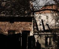 Stads- textur för förstört hus Royaltyfri Bild