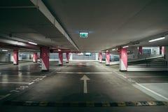 Stads- tom underjordisk parkering Arkivbild