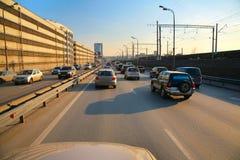 stads- trafik royaltyfria foton