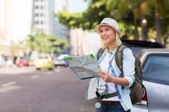 Stads- turist- trottoar Arkivbilder