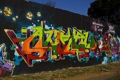 stads- vägg för konstgrafitti Arkivbilder