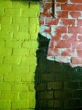 stads- vägg för tegelsten Arkivbilder