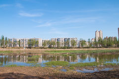stads- våtmark Royaltyfri Foto