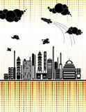stads- vektor för bakgrund Royaltyfria Bilder