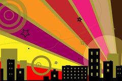 stads- vektor för bakgrundsdesign Royaltyfri Bild
