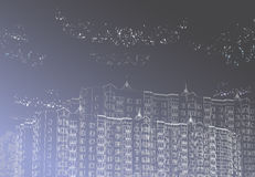 stads- vektor för bakgrundsdiagram Fotografering för Bildbyråer
