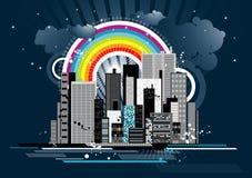 stads- vektor för plats Arkivbild