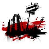 stads- vektor för stad stock illustrationer