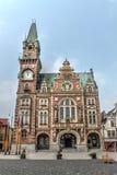 Stads Vierkante mening in de Tsjechische Republiek van Frydlant Stock Foto