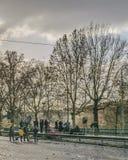 Stads- vinterplats, Rome, Italien Royaltyfri Fotografi