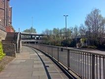 stads- walkway Royaltyfria Foton