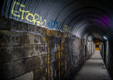 Stads- Walkway med grafitti Royaltyfri Fotografi