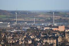 stads- wind för lantgård Royaltyfri Bild