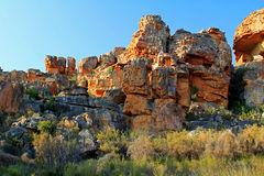 The Stadsaal Caves landscape in the Cederberg, South Africa Stock Images