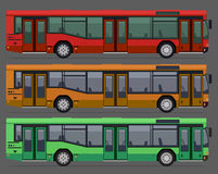 Stadsallmänhetbussar Royaltyfria Bilder
