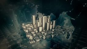Stadsanimatie stock videobeelden