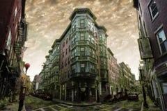 Stadsapocalyps Royalty-vrije Stock Afbeeldingen
