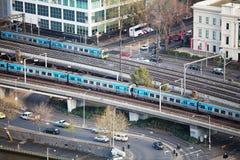 Stadsarchitectuur Melbourne Royalty-vrije Stock Afbeeldingen