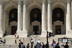 stadsarkiv nya offentliga york Royaltyfria Bilder