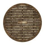 Stadsavkloppräkning (Manholeserie) Arkivfoto