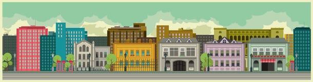 Stadsbakgrund royaltyfri illustrationer