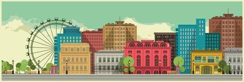 Stadsbakgrund stock illustrationer