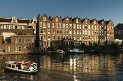 Stadsbeeld搬运车阿姆斯特丹,阿姆斯特丹都市风景  库存图片