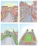 Stadsbeelden royalty-vrije illustratie