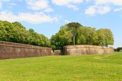 stadsbefästninglucca vägg arkivfoto
