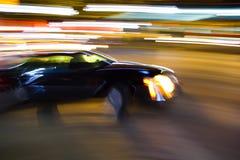 Stadsblure för snabb bil Arkivbilder