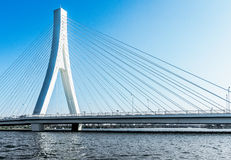 Stadsbouw van moderne brug Royalty-vrije Stock Foto